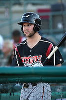 Michael Gettys (23) of the Lake Elsinore Storm during a game against the Lancaster JetHawks at The Hanger on August 2, 2016 in Lancaster, California. Lake Elsinore defeated Lancaster, 10-9. (Larry Goren/Four Seam Images)
