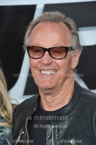 """Peter Fonda at the world premiere of """"Furious 7"""" at the TCL Chinese Theatre, Hollywood.<br /> April 1, 2015  Los Angeles, CA<br /> Picture: Paul Smith / Featureflash"""