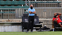 CARY, NC - AUGUST 01: Tommy Soehn watches the game from the sideline during a game between Birmingham Legion FC and North Carolina FC at Sahlen's Stadium at WakeMed Soccer Park on August 01, 2020 in Cary, North Carolina.