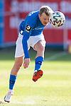 20.02.2021, xtgx, Fussball 3. Liga, FC Hansa Rostock - SV Waldhof Mannheim, v.l. Nik Omladic (Hansa Rostock, 21) Freisteller, Einzelbild, Ganzkoerper, single frame <br /> <br /> (DFL/DFB REGULATIONS PROHIBIT ANY USE OF PHOTOGRAPHS as IMAGE SEQUENCES and/or QUASI-VIDEO)<br /> <br /> Foto © PIX-Sportfotos *** Foto ist honorarpflichtig! *** Auf Anfrage in hoeherer Qualitaet/Aufloesung. Belegexemplar erbeten. Veroeffentlichung ausschliesslich fuer journalistisch-publizistische Zwecke. For editorial use only.