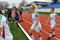 OHL's Tine Schryvers pictured during a female soccer game between Club Brugge Dames YLA and Oud Heverlee Leuven on the 8 th matchday of the 2020 - 2021 season of Belgian Scooore Womens Super League , saturday 21 th November 2020  in Knokke , Belgium . PHOTO SPORTPIX.BE | SPP | DAVID CATRY