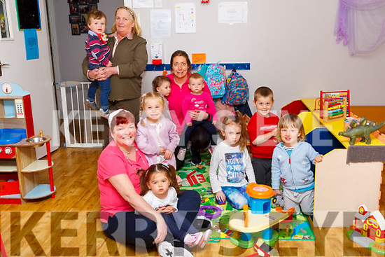 Duagh Child Care: Children on their first day back at Duagh Child Care Centre with Bernie Keane, Bridget Donegan & Mairead McEnery on Monday last.