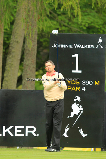 Peter Lawrie (IRL) during the ProAm ahead of the 2013 Johnnie Walker Championship being played over the PGA Centenary Course, Gleneagles, Perthshire from 22nd to 25th August 2013: Picture Stuart Adams www.golftourimages.com: 21st August 2013