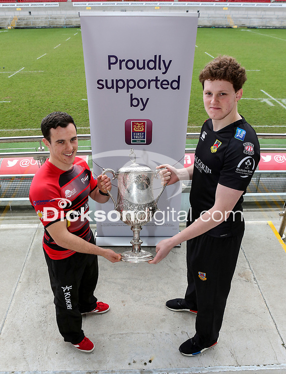 Monday 4th February 2019 | First Trust Ulster Senior Cup Final Preview<br /> <br /> City of Armagh's Harry Doyle and Ballymena RFC's Matthew Norris pictured at Kingspan Stadium. Photo by John Dickson / DICKSONDIGITAL