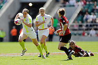 Sonia Green of England in action during the iRB Challenge Cup at Twickenham on Sunday 13th May 2012 (Photo by Rob Munro)