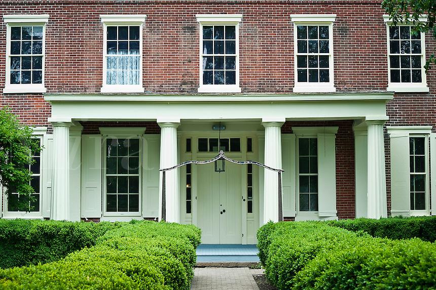 Mansion and gardens, historic Smithvile Park, Burlington, New Jersey, USA
