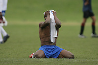 A Stratford Juniors FC player holds his shirt over his head during the East London Advertiser Sunday Cup Final at Ive Farm Arena, Leyton - 25/05/08 - MANDATORY CREDIT: Gavin Ellis/TGSPHOTO - Self billing applies where appropriate - Tel: 0845 094 6026