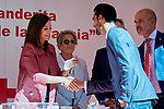 Queen Letizia of Spain, Alvaro Arbeloa and Carlota Ruiz attends to Red Cross World Day at Red Cross Headquarters in Madrid, Spain. October 04, 2018. (ALTERPHOTOS/A. Perez Meca)