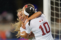 SAN JOSE, CA - DECEMBER 6: Sophia Smith #9 of the Stanford Cardinal celebrates scoring with teammates during a game between UCLA and Stanford Soccer W at Avaya Stadium on December 6, 2019 in San Jose, California.