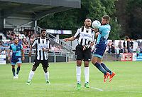 Nick Freeman of Wycombe Wanderers wins the ball during the Friendly match between Maidenhead United and Wycombe Wanderers at York Road, Maidenhead, England on 30 July 2016. Photo by Alan  Stanford PRiME Media Images.