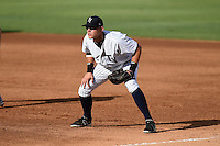 Tampa Yankees first baseman Matt Snyder (55) during a game against the Dunedin Blue Jays on June 28, 2014 at George M. Steinbrenner Field in Tampa, Florida.  Tampa defeated Dunedin 5-2.  (Mike Janes/Four Seam Images)