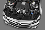 High angle engine detail of a 2012 Mercedes CLS Class .