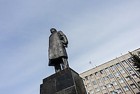 Lenin's monument in the City center of Slavyansk