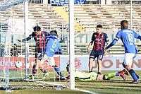 gol Emanuele Ndoj<br /> Brescia 23-02-2019 <br /> Football Serie B 2018/2019 Brescia - Crotone <br /> Foto Image Sport / Insidefoto