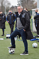 Head Coach Leo Van Der Elst of Club Brugge  pictured during a female soccer game between SV Zulte - Waregem and Club Brugge YLA on the 13 th matchday of the 2020 - 2021 season of Belgian Scooore Womens Super League , saturday 6 th of February 2021  in Zulte , Belgium . PHOTO SPORTPIX.BE | SPP | DIRK VUYLSTEKE
