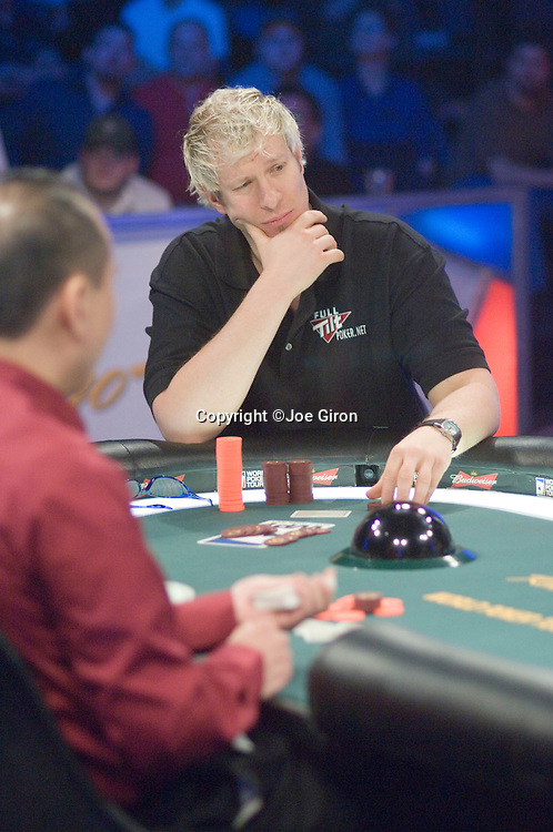 The many faces of Greg Mueller as he is eliminated by Mike Simon in 4th. place.