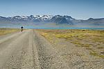 Bicycling, Grundarfjordur, West Fjords, Iceland