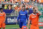 The Hague, Netherlands, June 15: Jaap Stockmann #1 of The Netherlands looks disappointed after the field hockey gold match (Men) between Australia and The Netherlands on June 15, 2014 during the World Cup 2014 at Kyocera Stadium in The Hague, Netherlands. Final score 6-1 (2-1)  (Photo by Dirk Markgraf / www.265-images.com) *** Local caption ***