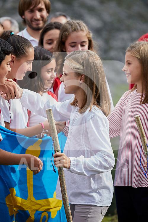 Princess Leonor of Spain visit the Enol lake in Asturias, Spain. September 08, 2018. (ALTERPHOTOS/A. Perez Meca)