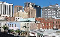 San Diego: Fourth Ave. from F Street--Horton Plaza garage. (Photo '90)