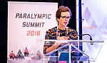 Sport Canada's Vicki Walker speaks during the CPC Paralympic Summit 2018 at the Palliser Hotel in Calgary, Alberta on November 15, 2018.