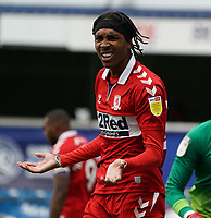 Middlesbrough's Djed Spence reacts to the second officials offside flag<br /> <br /> Photographer Stephanie Meek/CameraSport<br /> <br /> The EFL Sky Bet Championship - Queens Park Rangers v Middlesbrough - Saturday 26th September 2020 - Loftus Road - London <br /> <br /> World Copyright © 2020 CameraSport. All rights reserved. 43 Linden Ave. Countesthorpe. Leicester. England. LE8 5PG - Tel: +44 (0) 116 277 4147 - admin@camerasport.com - www.camerasport.com