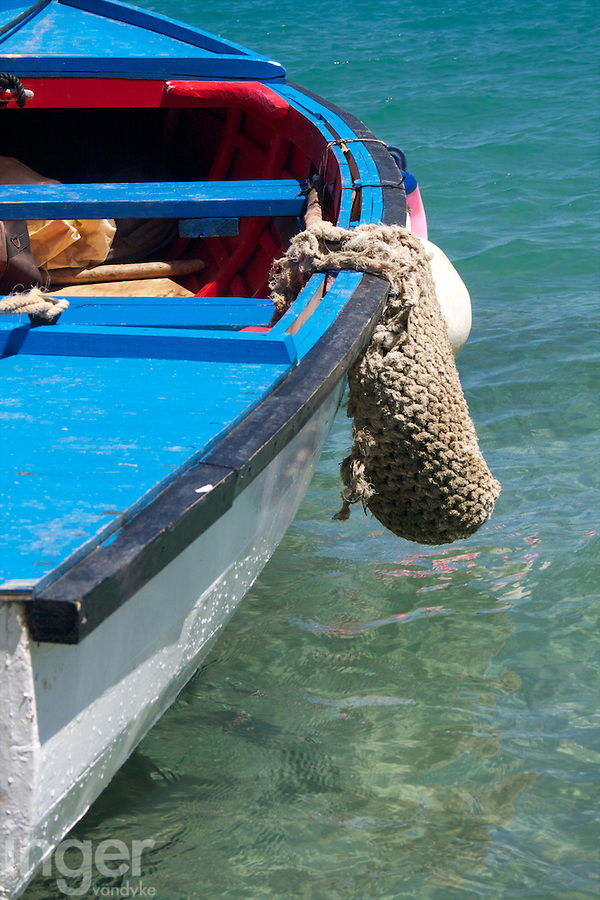 Boat moored up at Utukalongalu Market in Neiafu, Tonga
