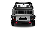 Straight rear view of a Straight rear view of 2021 Nissan e-NV200 Business 4 Door Cargo Van stock images