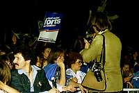 Re-election du PQ, le 13 avril 1981<br /> <br /> PHOTO : Agence Quebec Presse