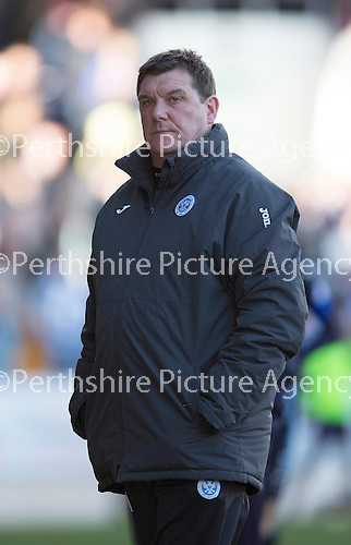 St Johnstone v Dundee....11.04.15   SPFL<br /> Tommy Wright<br /> Picture by Graeme Hart.<br /> Copyright Perthshire Picture Agency<br /> Tel: 01738 623350  Mobile: 07990 594431