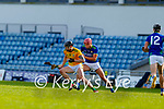 Jack Walsh, Meath in action against Fionan Mackessy, Kerry, during the Round 1 meeting of Kerry and Meath in the Joe McDonagh Cup at Austin Stack Park in Tralee on Sunday.