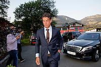 Austria, Kitzbuhel, Juli 15, 2015, Tennis, Davis Cup, Dutch team arriving at official  dinner, pictured: Jesse Huta Galung<br /> Photo: Tennisimages/Henk Koster
