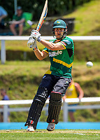 George Worker bats during the men's Dream11 Super Smash T20 cricket match between the Central Stags and Northern Knights at Pukekura Park in New Plymouth, New Zealand on Wednesday, 30 December 2020. Photo: Dave Lintott / lintottphoto.co.nz
