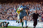 Cardiff Blues v Leicester Tigers - Heineken Cup Semi-Final at the Millennium Stadium in Cardiff..Cardiff's Tom James scores his late try..