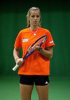 29-1-10, Almere, Tennis, Training Fedcup team, Arantxa Rus