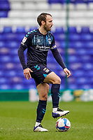 20th February 2021; St Andrews Stadium, Coventry, West Midlands, England; English Football League Championship Football, Coventry City v Brentford; Liam Kelly of Coventry City controls the ball as he looks for an outlet