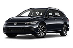 Stock pictures of low aggressive front three quarter view of 2021 Volkswagen Golf-Variant Life-HEV 5 Door Wagon Low Aggressive
