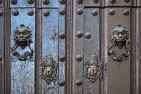 Cuba, Havana.  Door knockers, Old Havana.