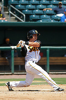 Jacksonville Suns catcher Sharif Othman (6) in action during a game against the Pensacola Blue Wahoos at Bragan Field on the Baseball Grounds of Jacksonville on May 11, 2015 in Jacksonville, Florida. Jacksonville  defeated Pensacola 5-4. (Robert Gurganus/Four Seam Images)