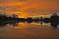 Angkor Wat at Sunset, Siem Reap, Cambodia