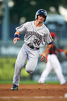 Mahoning Valley Scrappers designated hitter Mitch Longo (30) running the bases during a game against the Batavia Muckdogs on August 18, 2016 at Dwyer Stadium in Batavia, New York.  Batavia defeated Mahoning Valley 2-1.  (Mike Janes/Four Seam Images)