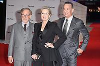 """director, Steven Spielberg, Meryl Streep and Tom Hanks<br /> arriving for the European premiere of """"The Post"""" at the Odeon Leicester Square, London<br /> <br /> <br /> ©Ash Knotek  D3368  10/01/2018"""