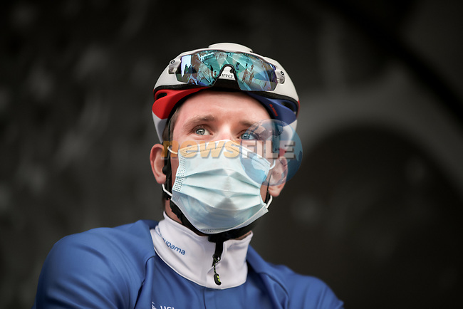 Arnaud Demare (FRA) Groupama-FDJ at sign on before Stage 5 of Paris-Nice 2021, running 200km from Vienne to Bollene, France. 11th March 2021.<br /> Picture: ASO/Fabien Boukla | Cyclefile<br /> <br /> All photos usage must carry mandatory copyright credit (© Cyclefile | ASO/Fabien Boukla)