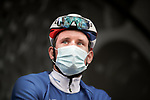 Arnaud Demare (FRA) Groupama-FDJ at sign on before Stage 5 of Paris-Nice 2021, running 200km from Vienne to Bollene, France. 11th March 2021.<br /> Picture: ASO/Fabien Boukla   Cyclefile<br /> <br /> All photos usage must carry mandatory copyright credit (© Cyclefile   ASO/Fabien Boukla)