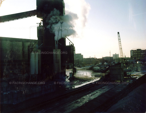 Chicago, Illinois, <br /> USA.<br /> March 2010<br /> <br /> A view of a cement factory in Chicago's North Side.