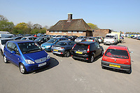 Players cars are parked outside the dressing room block at East Marsh, Hackney Marshes, which is scheduled for demolition in early May 2010 - 18/04/10 - MANDATORY CREDIT: Gavin Ellis/TGSPHOTO - Self billing applies where appropriate - Tel: 0845 094 6026