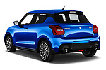 Car pictures of rear three quarter view of a 2018 Suzuki Swift Sport Base 5 Door Hatchback angular rear