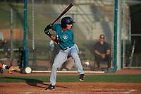 AZL Mariners Cesar Trejo (7) at bat during an Arizona League game against the AZL Giants Orange on July 18, 2019 at the Giants Baseball Complex in Scottsdale, Arizona. The AZL Giants Orange defeated the AZL Mariners 7-4. (Zachary Lucy/Four Seam Images)