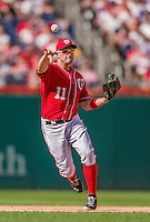 22 September 2013: Washington Nationals third baseman Ryan Zimmerman in action against the Miami Marlins at Nationals Park in Washington, DC. The Marlins defeated the Nationals 4-2 in the first game of their day/night double-header. Mandatory Credit: Ed Wolfstein Photo *** RAW (NEF) Image File Available ***