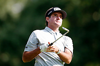 3rd July 2021, Detroit, MI, USA;  Bubba Watson hits his tee shot on the 9th hole on July 3, 2021 during the Rocket Mortgage Classic at the Detroit Golf Club in Detroit, Michigan.